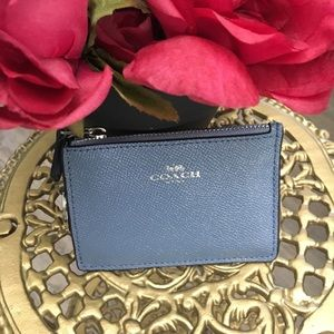 Authentic Coach ID/card coin Key ring holder